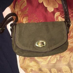 Hunter green purse- small and over the body.